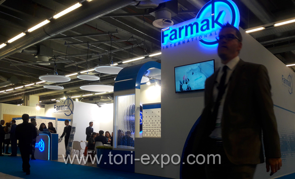 <center>Exhibition booth Farmak at CPHI 2017 in Frankfurt</center>