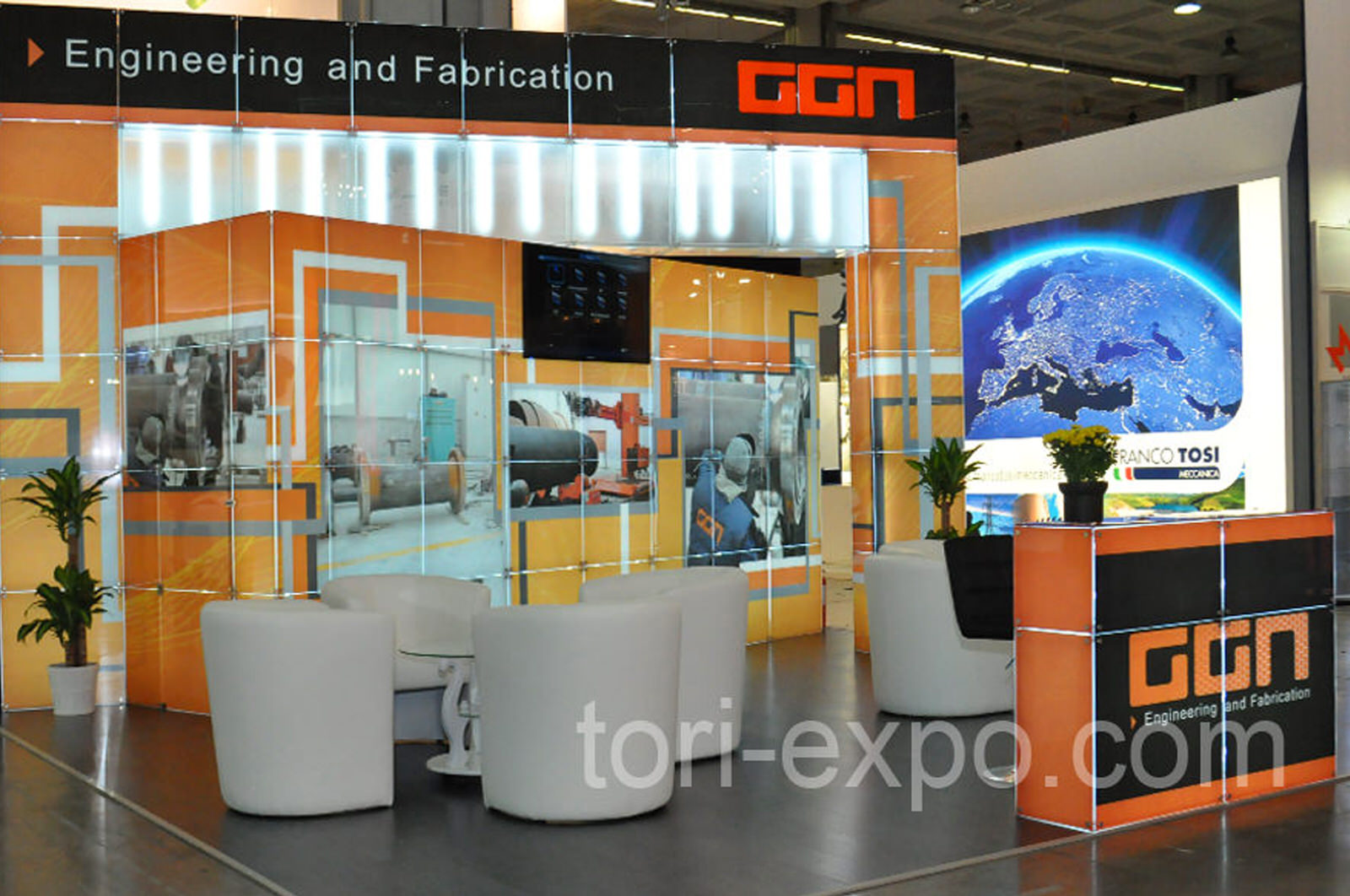<center>Exhibition stand GGN at Powergen Europe 2016 Italy</center>