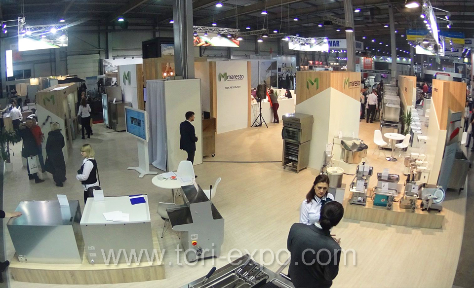 <center>Exhibition stand Maresto 400 m2 in Kyiv at FORECH 2017</center>