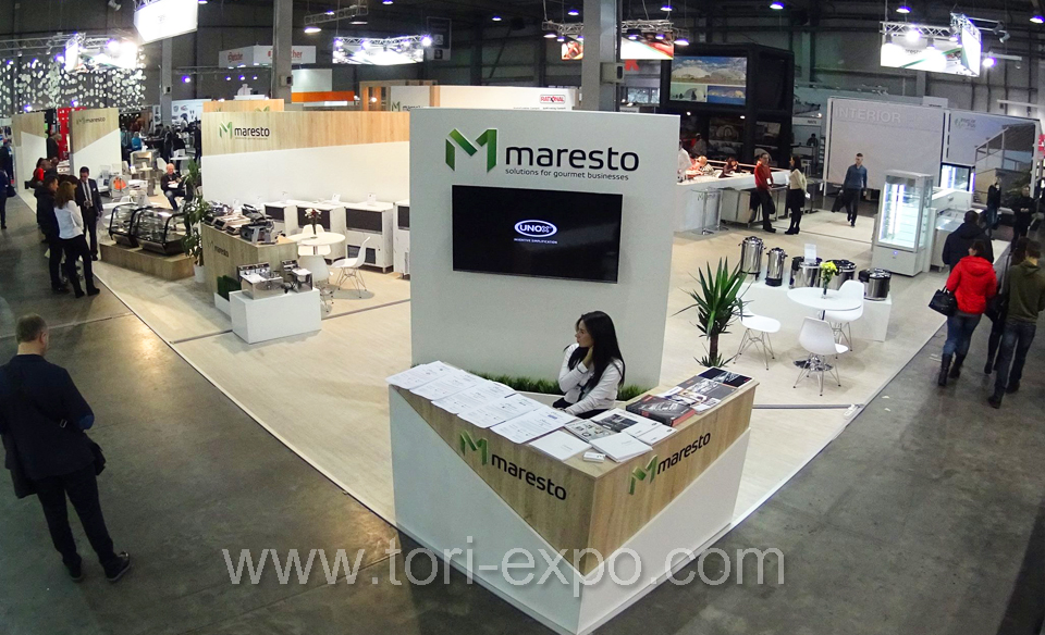 <center>Trade show booth Maresto 400 m2 in Kyiv at FORECH 2017</center>